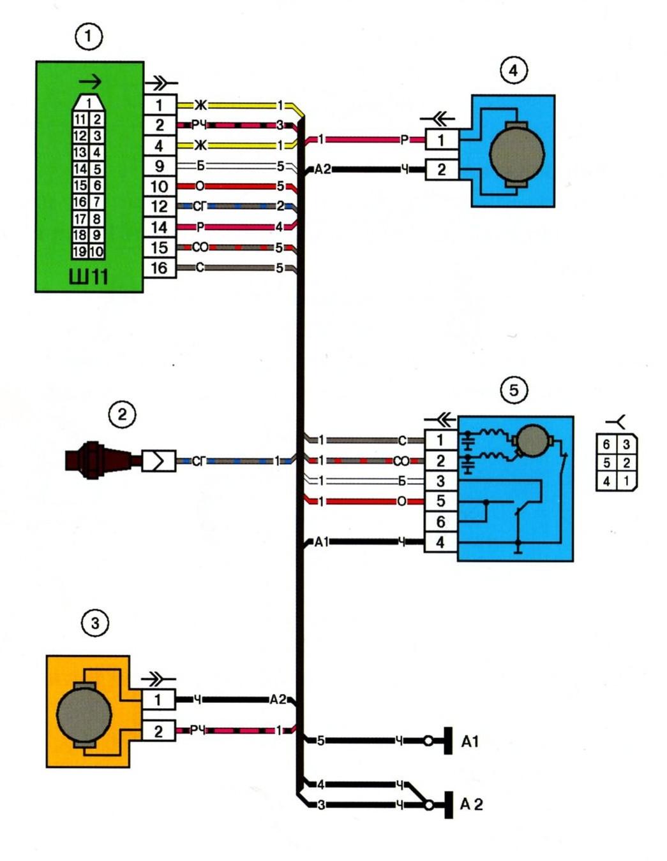 Электрическая схема топливной ваз 2114