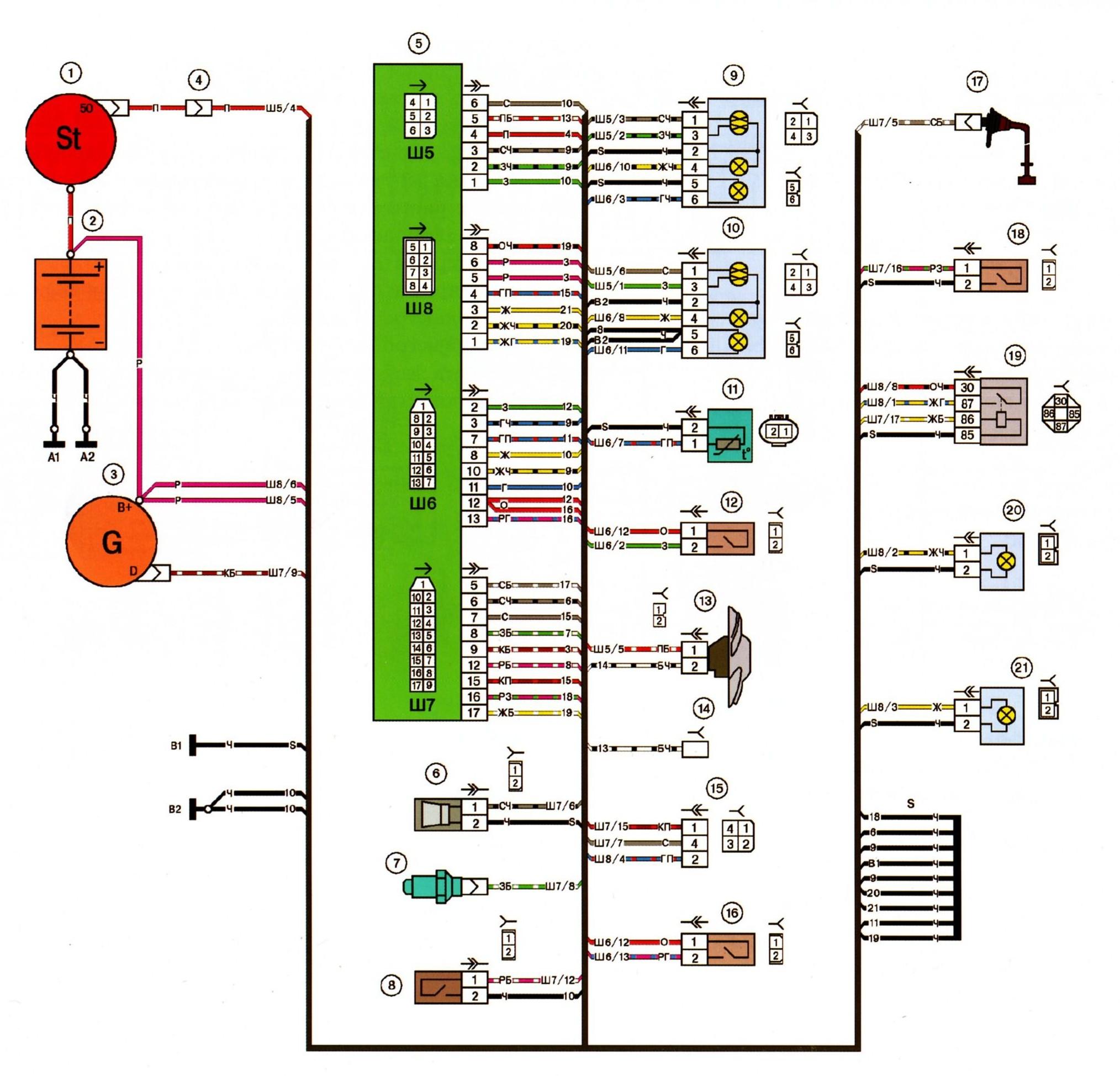 Схема подключения уровня масла ваз 2115