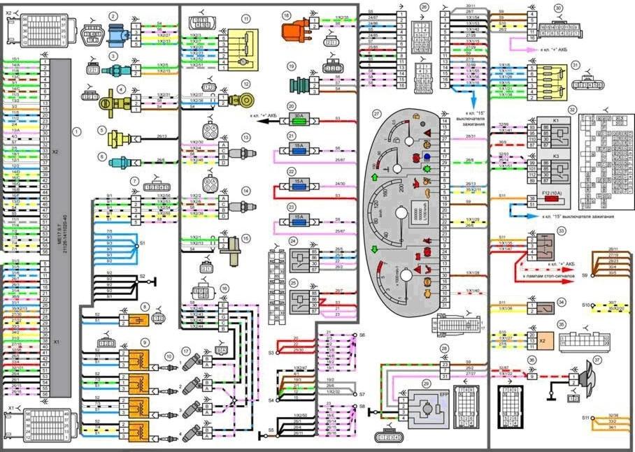 Схема электрическая лада приора