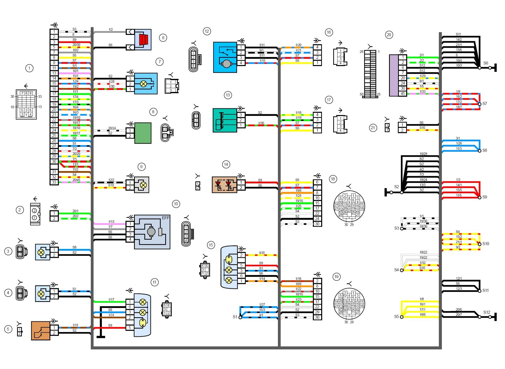 Электрическая схема фольксваген т5