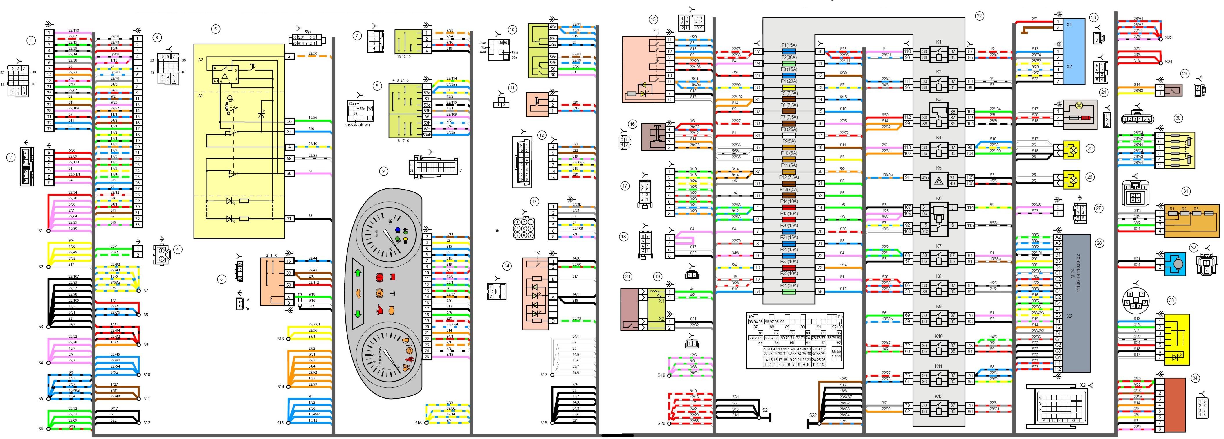 В данной статье приведена принципиальная электрическая схема подключения Лада Гранта.